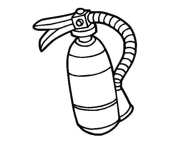 600x470 Fire Extinguisher Coloring Page Fire Extinguisher Coloring Page