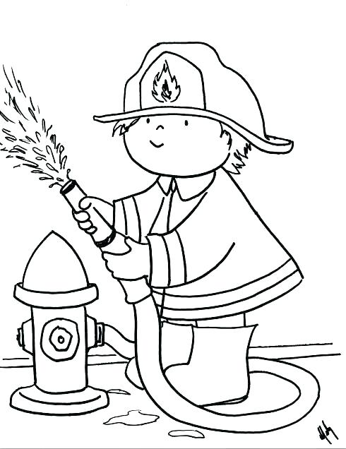 490x636 Fire Extinguisher Coloring Pages Safety And Department Page