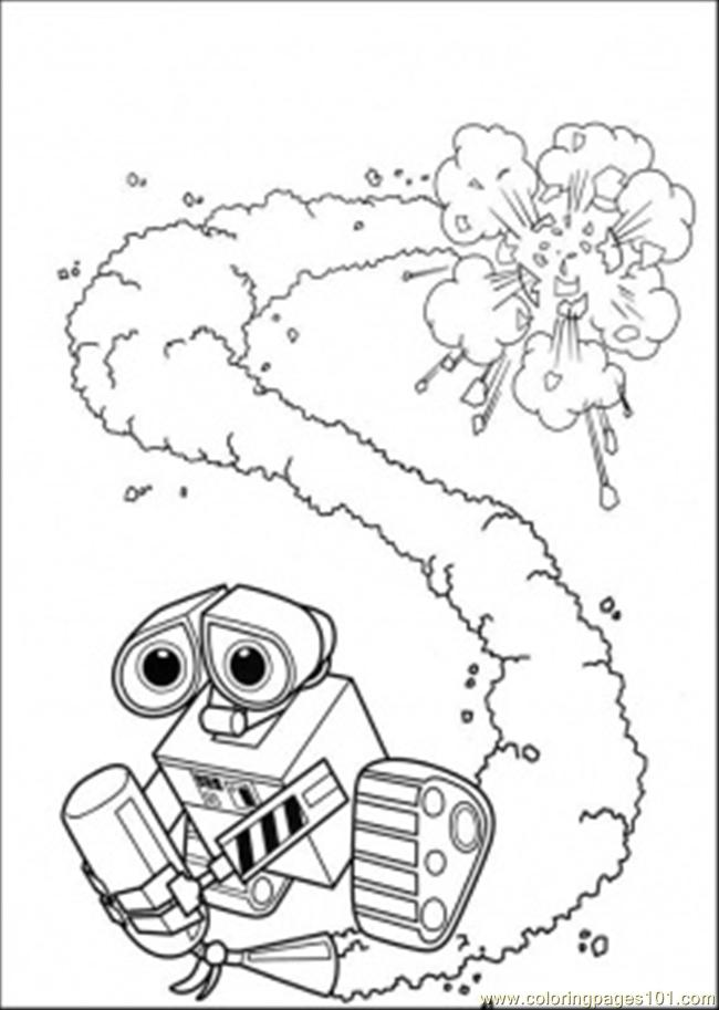 650x913 Wall E With Fire Extinguisher Coloring Page