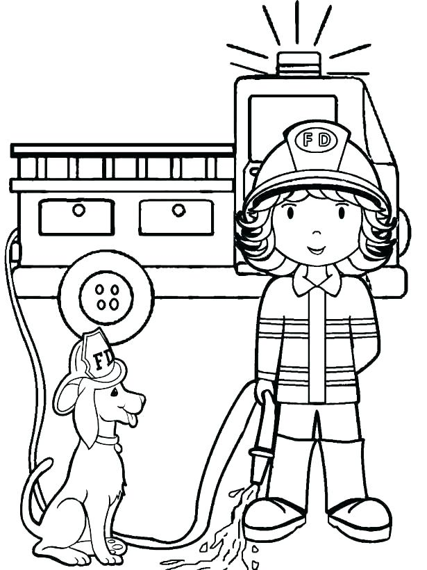 615x820 Firefighter Coloring Page Fireman Coloring Page Firefighter