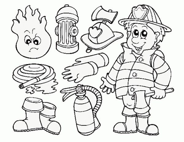 600x463 Firefighter Coloring Page Unique Fire Station Coloring Page
