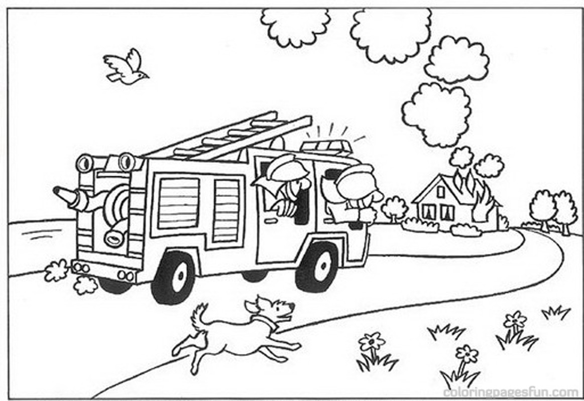 1163x800 Firefighter Coloring Pages To And Print For Free New Coloring Sheets