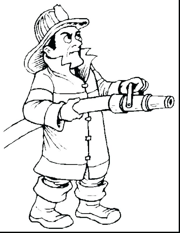 618x797 Firefighter Hat Coloring Page Firefighter Coloring Page