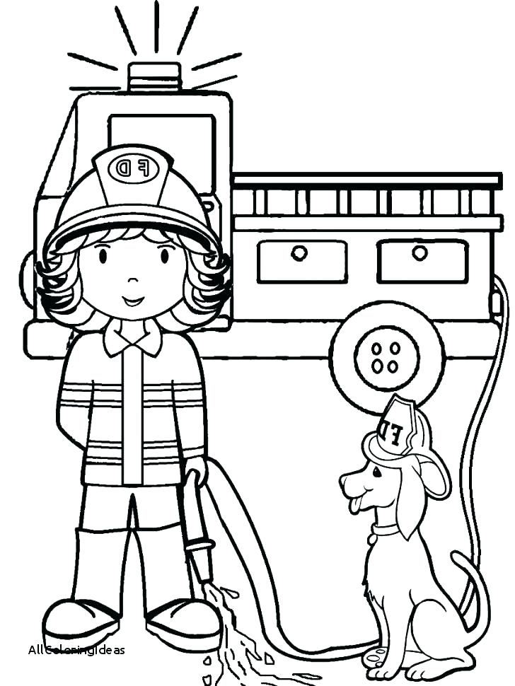 728x970 Fireman Coloring Book Together With Fireman Hat Coloring Page Fire
