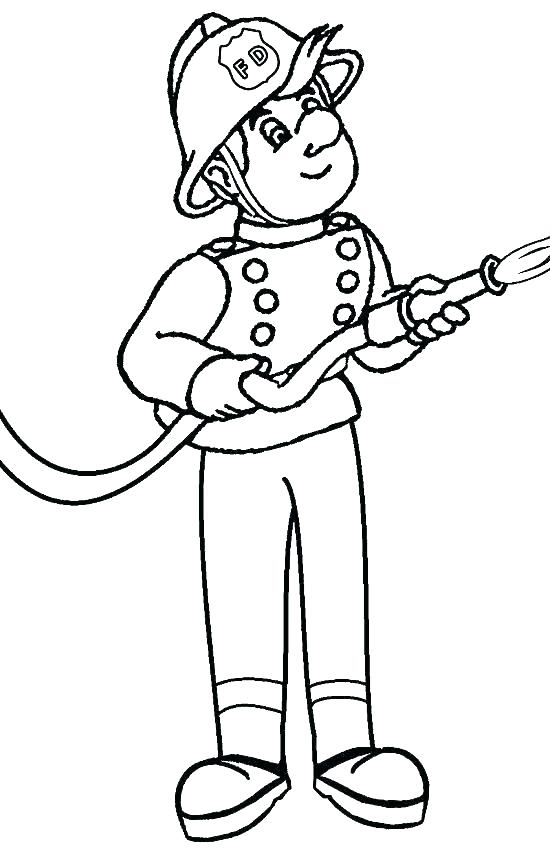 550x849 Fireman Coloring Page Firefighters Coloring Pages Fireman Coloring