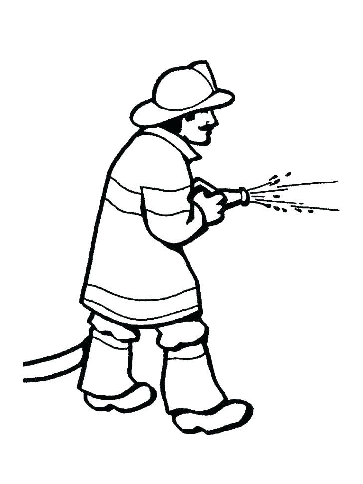 728x971 Fireman Coloring Page Fireman Coloring Page Firefighter Hat