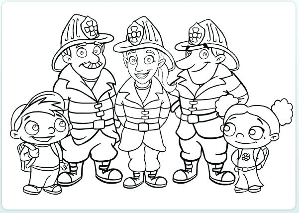 601x428 Fireman Coloring Pages Fireman Coloring Book As Well As Fire