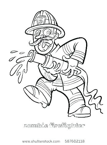 348x470 Fire Station Coloring Pages