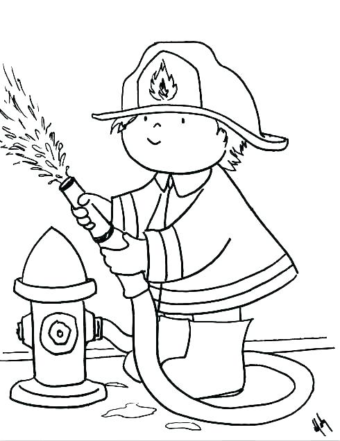 490x636 Fireman Hat Coloring Pages