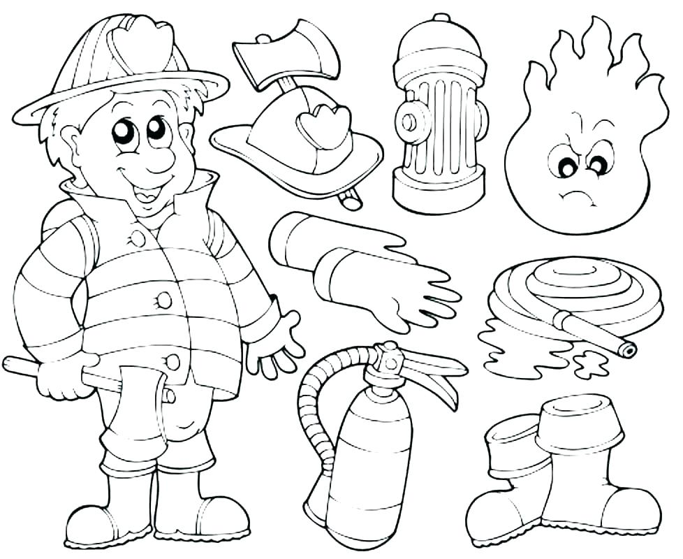 978x800 Firefighter Coloring Page Fire Department Coloring Pages