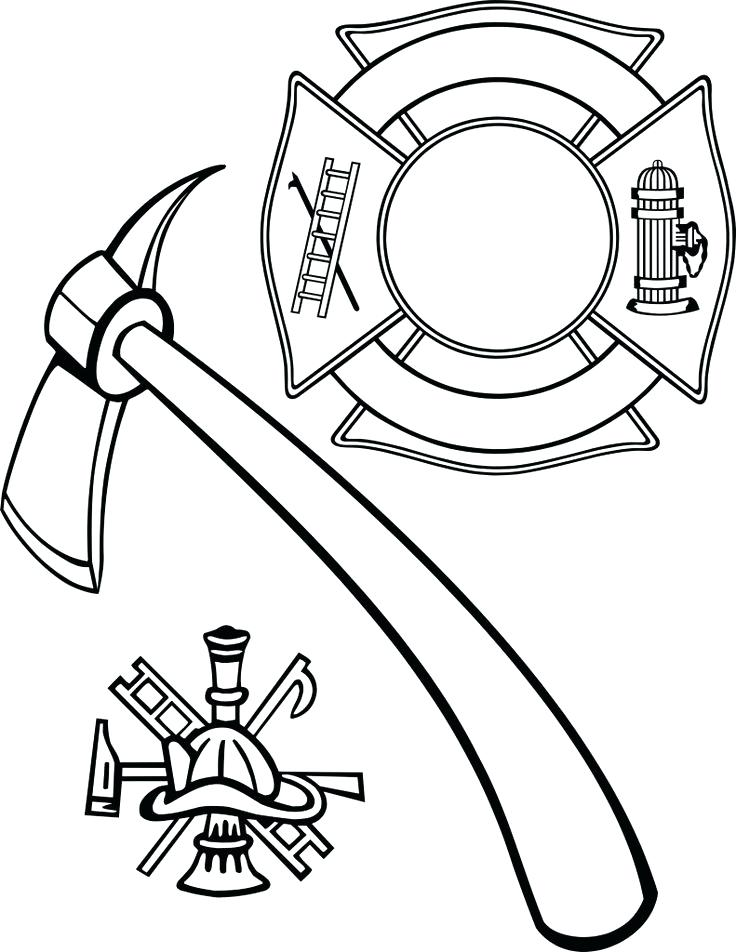 736x952 Fire Hydrant Coloring Page Fire Department Cross Vector Sketch