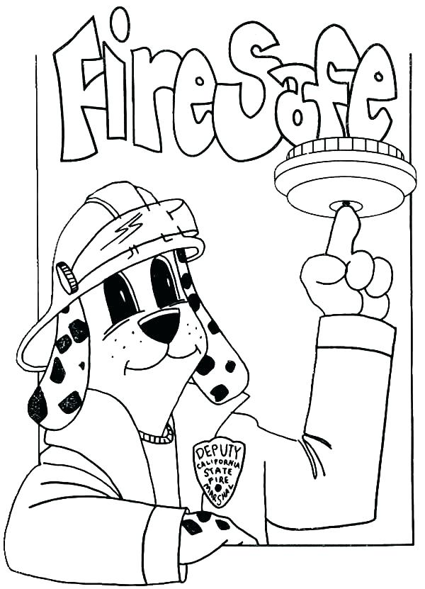 600x831 Fire Hydrant Coloring Page Sparky The Fire Dog Coloring Pages