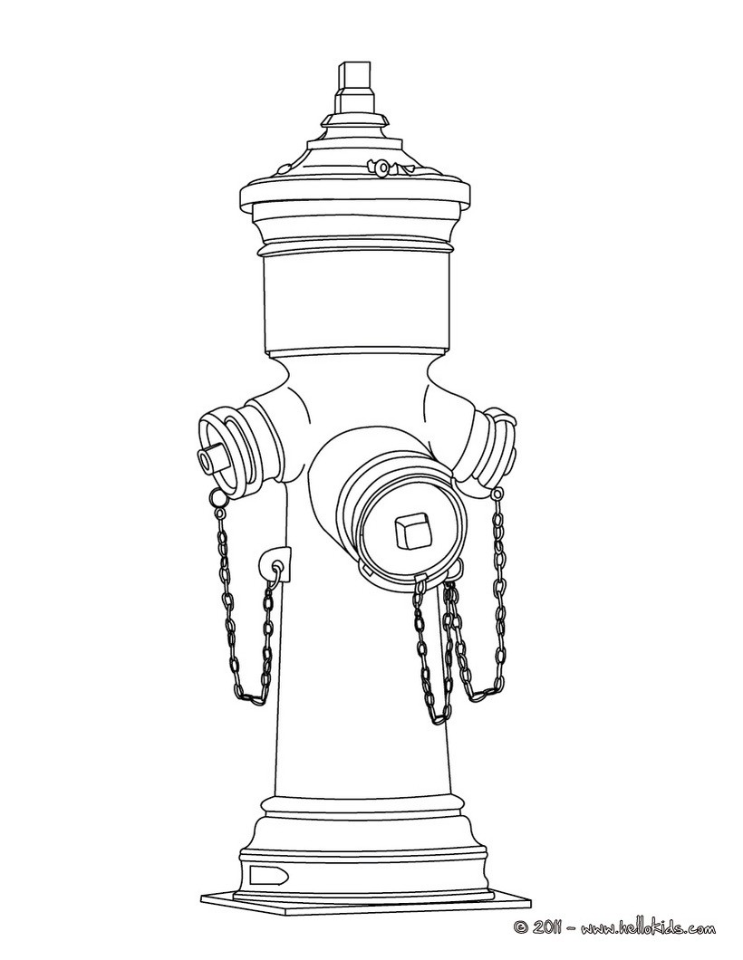 820x1060 Fire Hydrant Coloring Pages Hellokids Fire Hydrant Coloring Page