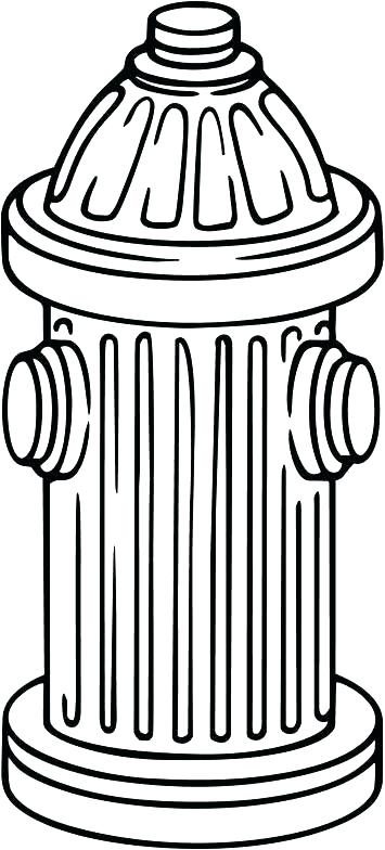 355x784 Fire Hydrant Template Fire Extinguisher Coloring Page Fire Hydrant