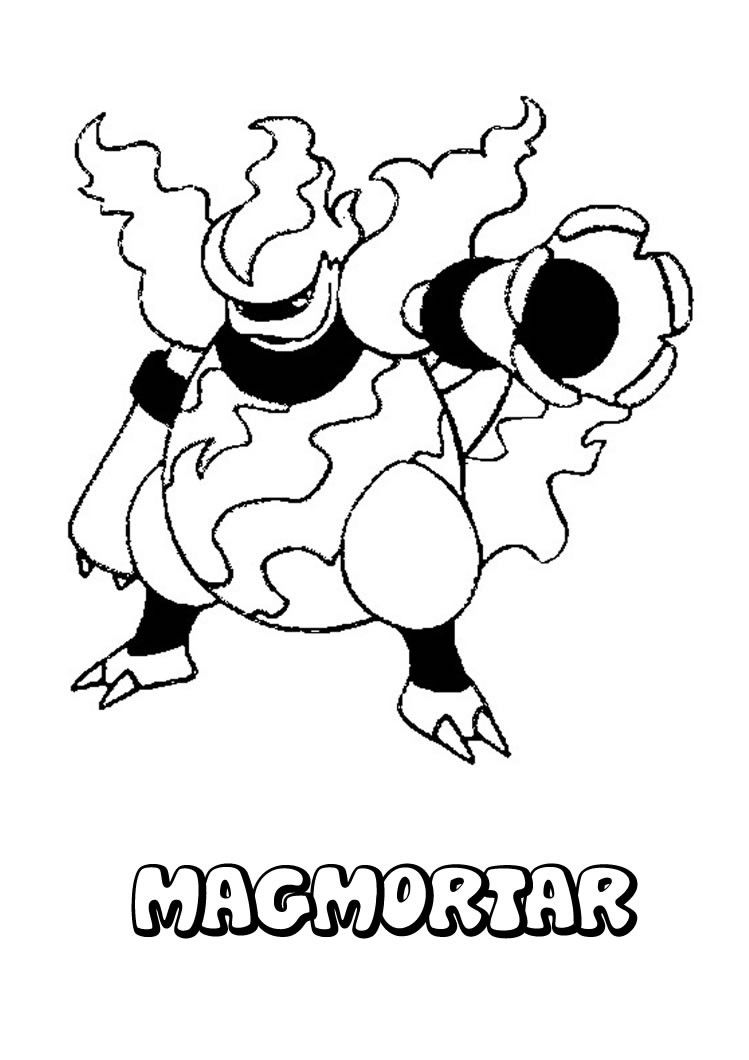 749x1060 Magmortar Pokemon Coloring Page More Fire Pokemon Coloring Sheets
