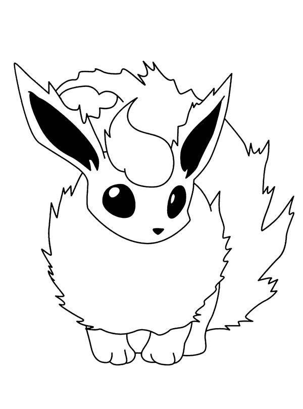 600x809 Pokemon, Fire Pokemon Flareon Coloring Pages Fire Pokemon