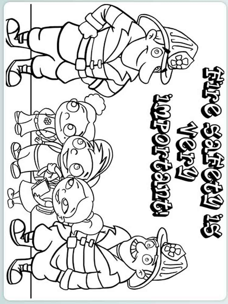750x1000 Fire Prevention Coloring Pages Free Printable Fire Prevention