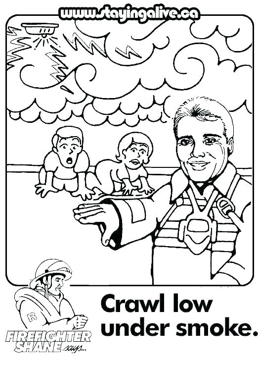 522x737 Fire Safety Coloring Pages Fire Prevention Printable Coloring