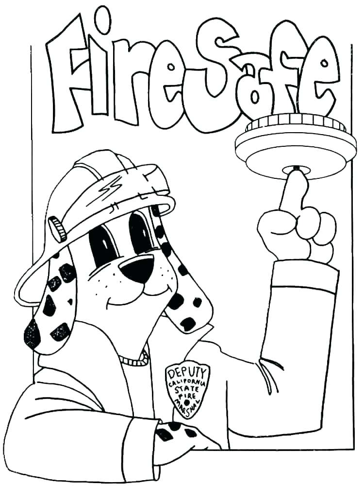 750x1000 Fire Safety Coloring Sheet Fire Prevention Coloring Pages Free