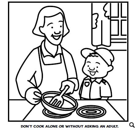 447x425 Fire Safety Coloring Pages That May Save Lives