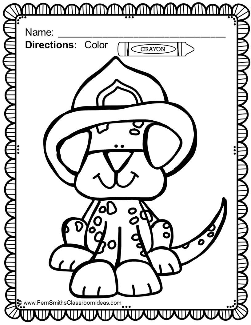 816x1056 Fire Safety Coloring Pages Dollar Deal