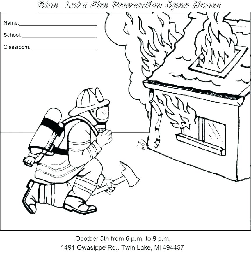 863x868 Fire Safety Coloring Sheet Summer Safety Coloring Pages Safety