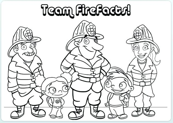 601x428 Coloring Pages Fire Safety Coloring Pages