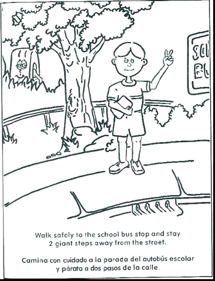 728x952 Safety Coloring Pages For Kindergarten Safety Coloring Pages Cool