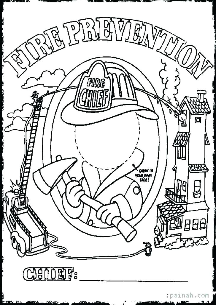 728x1024 Fire Safety Coloring Pages
