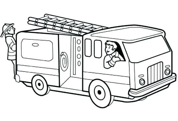 600x408 Free Colouring Pages Fire Truck