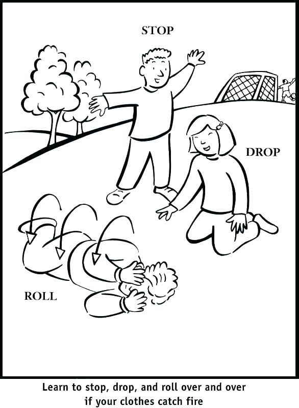 586x799 Fire Prevention Coloring Pages Free Fire Safety Coloring Pages