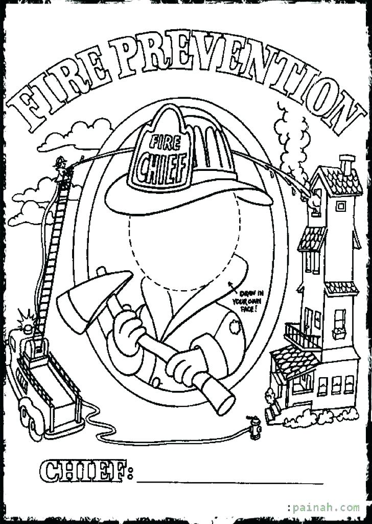 728x1024 Fire Safety Coloring Sheet