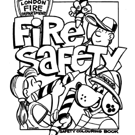 268x268 Fire Safety For Kids Coloring Pages All About Coloring Pages