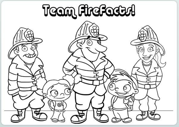 601x428 Printable Fire Safety Coloring Pages Best Images About National