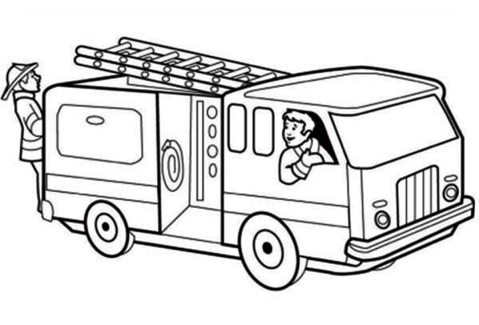960x652 Printable Fire Truck Coloring Page For Stunning Free Fire Truck