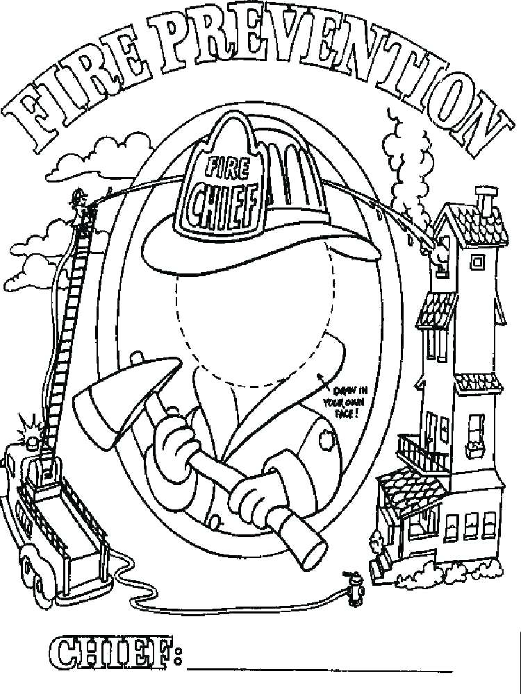 750x1000 Fire Prevention Coloring Pages