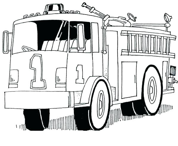 600x492 Fire Engine Coloring Page Free Printable Fire Truck Coloring Pages