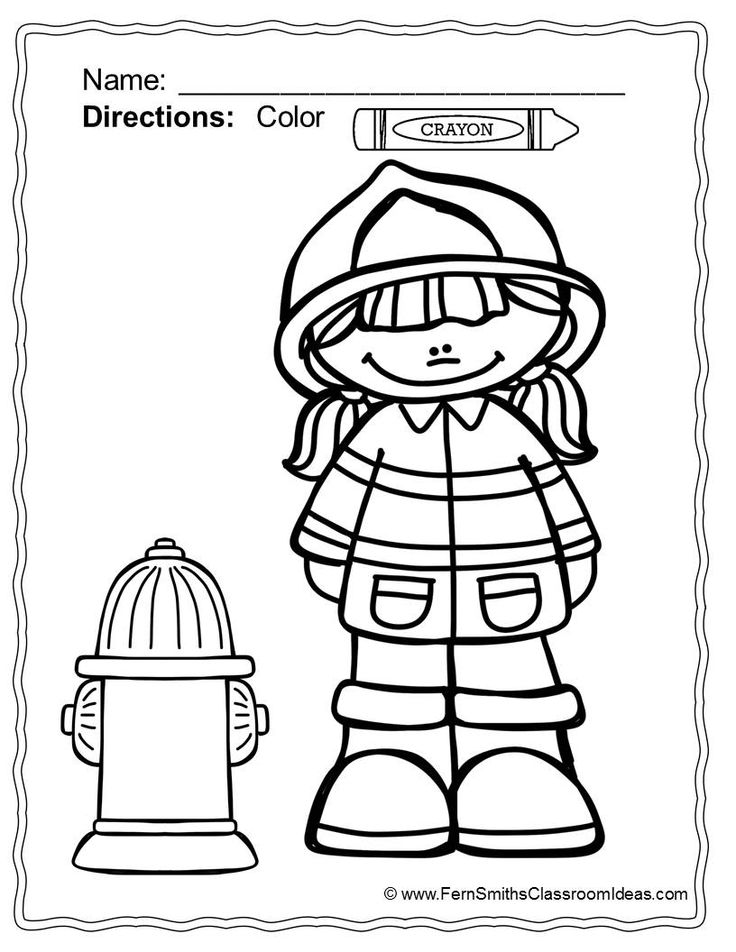 Fire Safety Week Coloring Pages At Getdrawings Com Free For