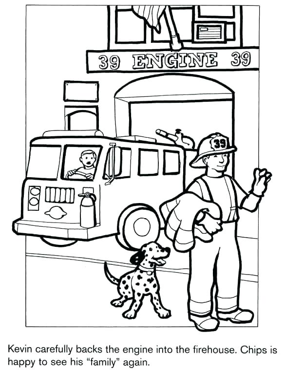 585x760 Fire Prevention Coloring Pages Firefighter Coloring Book Also Pics