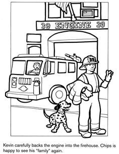 236x306 Fire Station Coloring Page Coloring For Kids