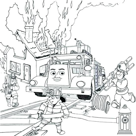 550x550 Fire Station Coloring Pages City Coloring Pages As Well As