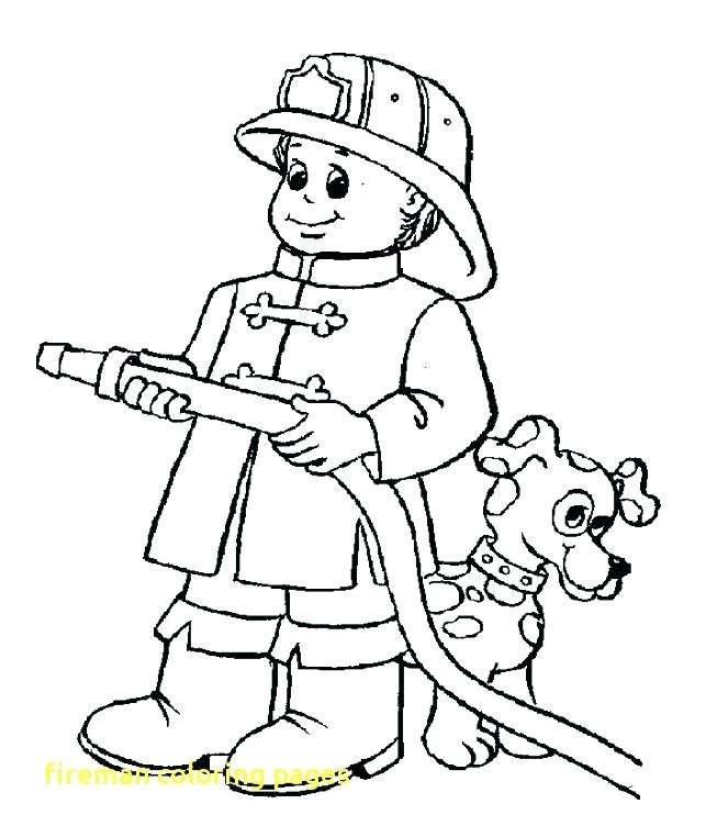 643x762 Firefighter Coloring Page Fresh Firefighter Coloring Page Fireman