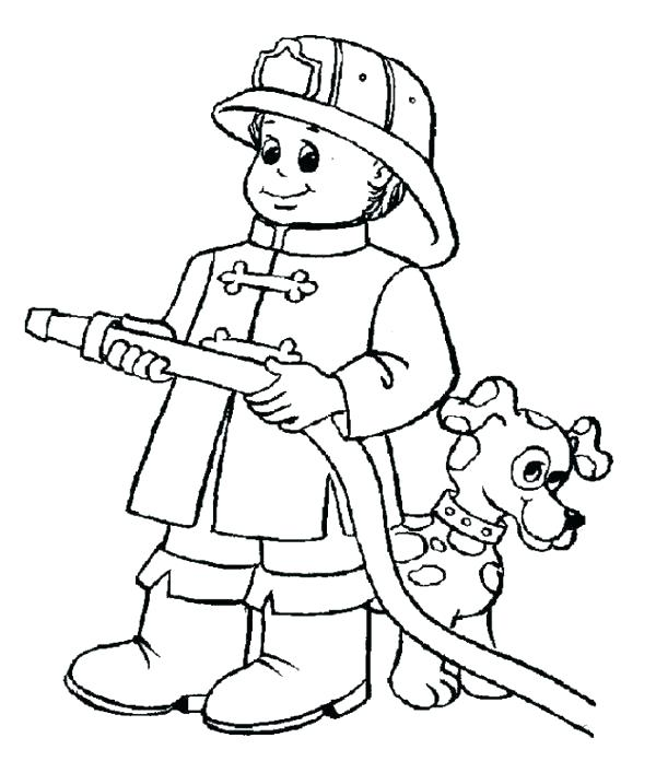 600x707 Fireman Coloring Book Together With Firefighter Coloring Page