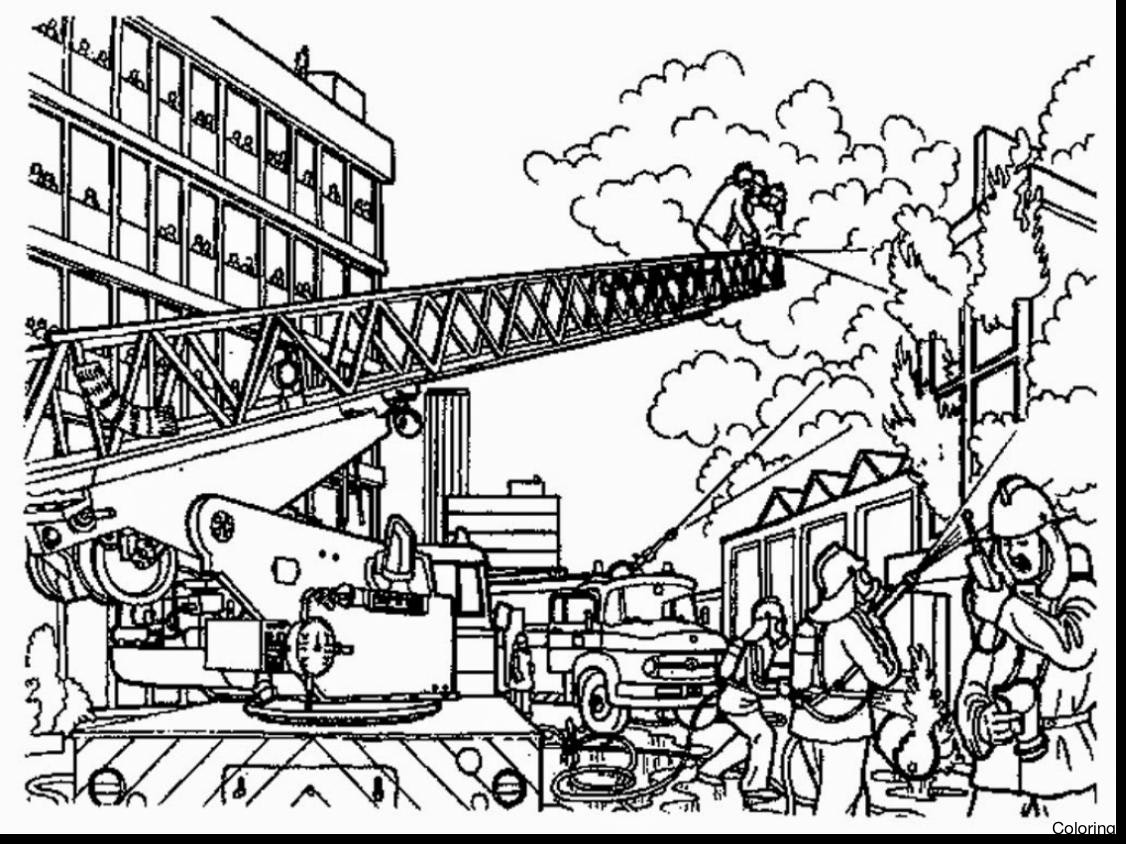 Fire Station Coloring Pages at GetDrawings | Free download