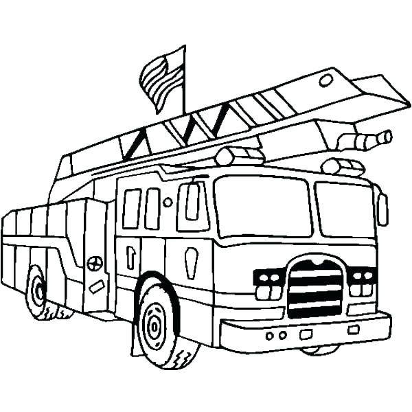 600x600 Free Colouring Pages Fire Truck