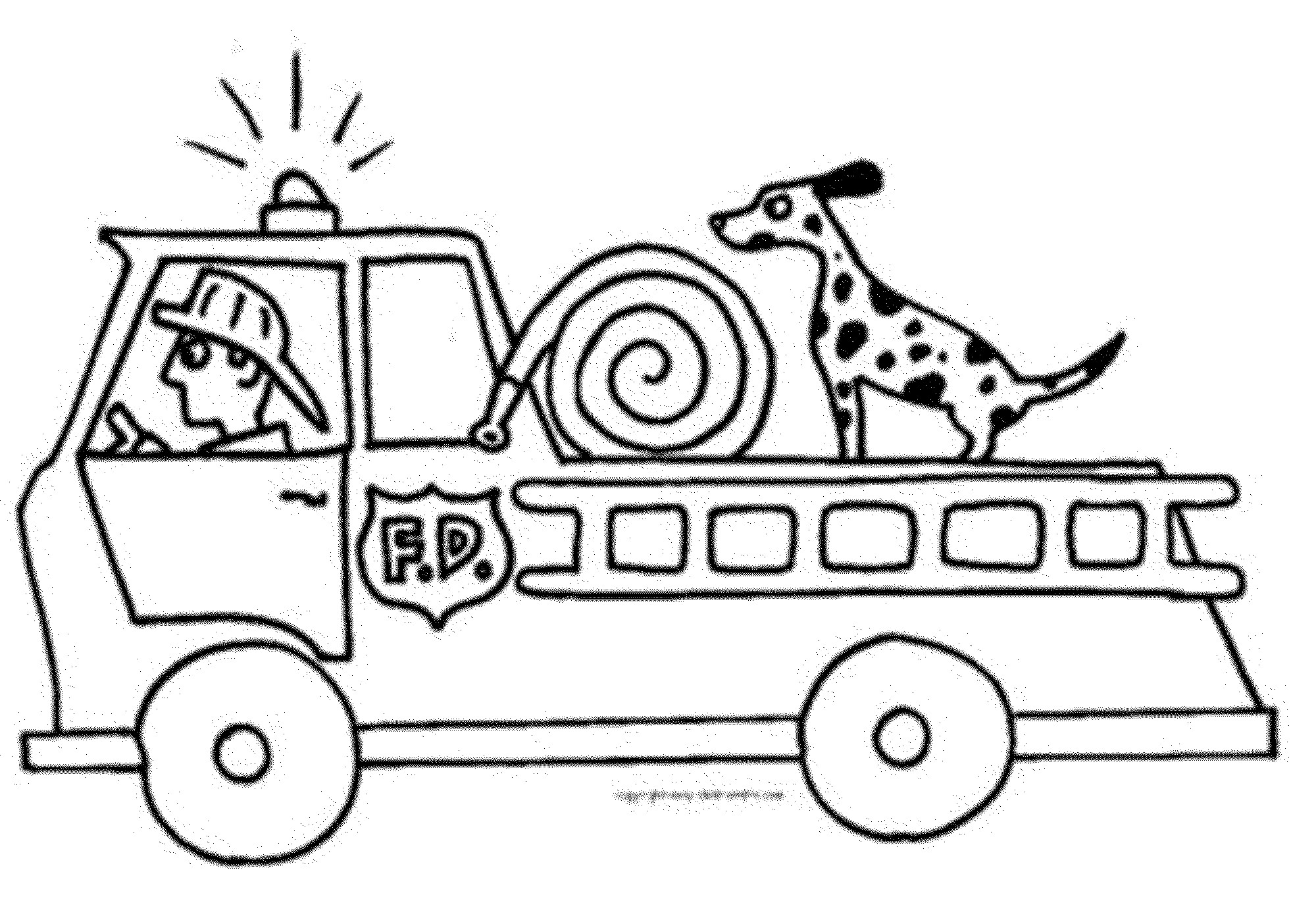 2000x1395 Fire Truck Coloring Pages Preschoolers Bestappsforkids Com Tearing