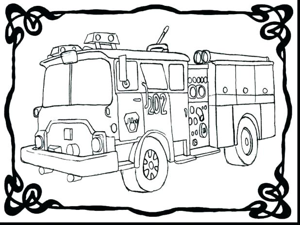 618x463 Fire Truck Line Drawing At Free For Personal Use Free Fire Truck