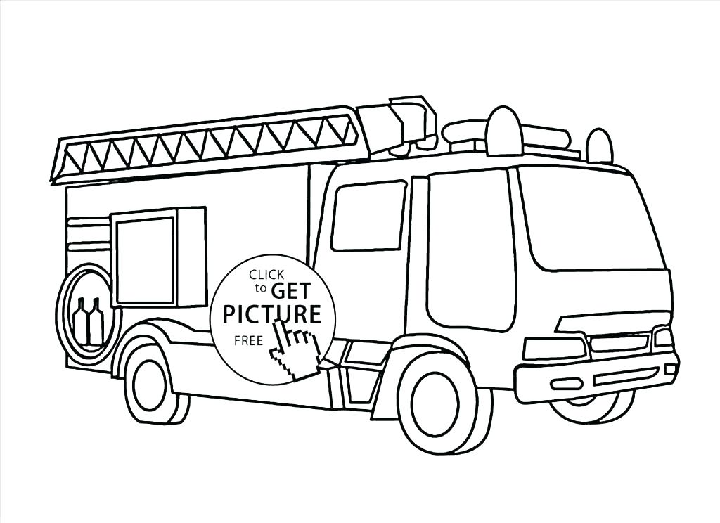 1024x744 Fire Truck Online Coloring Page Fire Engines Colouring Pages