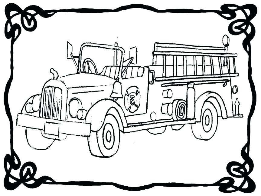 863x647 Firetruck Coloring Page Fresh Fire Truck Coloring Page