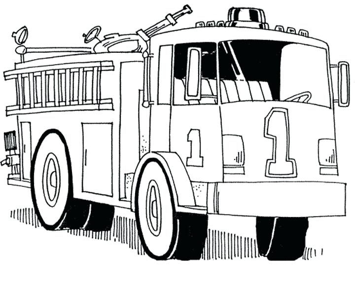 720x590 Coloring Page Fire Truck Printable Fire Truck Coloring Page